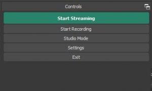 OBS Tutorial: Controls