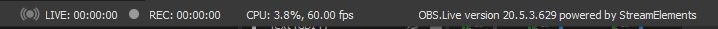 OBS Tutorial: Status Bar